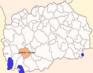 Општина Демир Хисар мапа