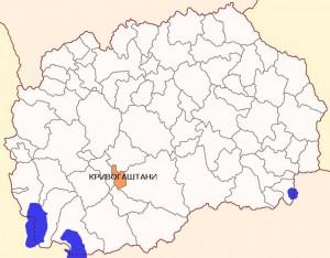 Општина Кривогаштани мапа