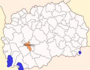 Општина Крушево мапа