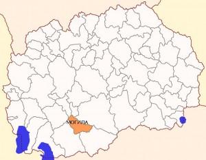 Општина Могила мапа