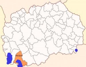 Општина Ресен мапа
